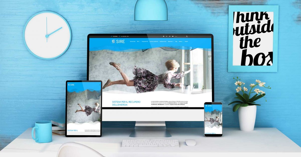 Sire: restyling Sito web